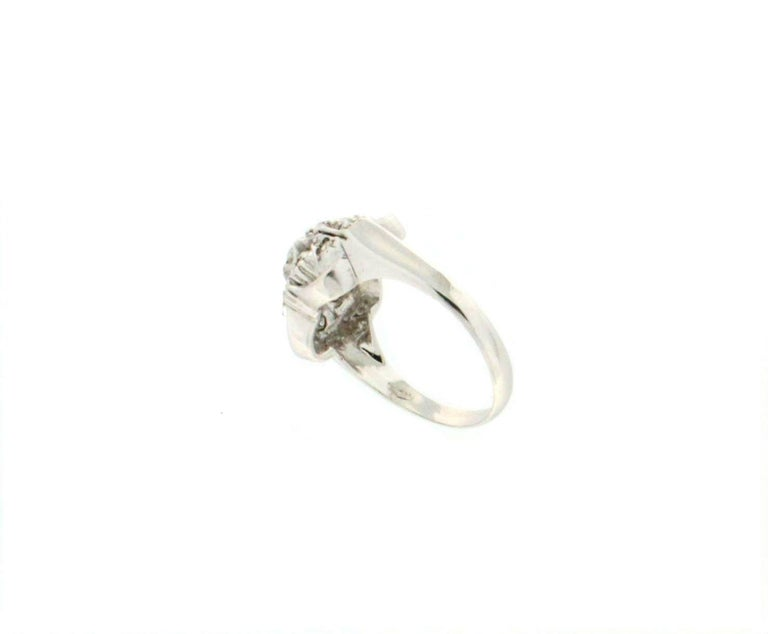 Brilliant Cut Handcraft Diamonds 18 Karat White Gold Engagement Ring For Sale