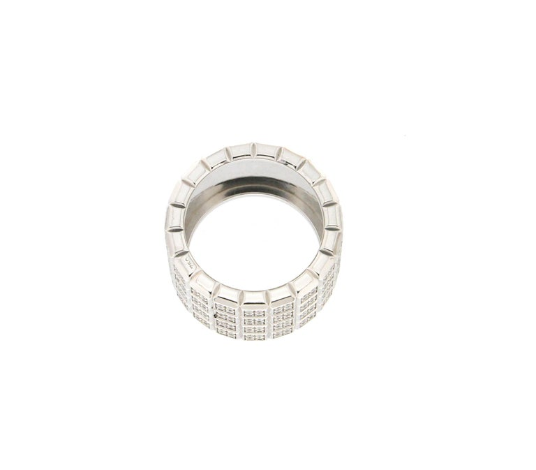 Handcraft Diamonds 18 Karat White Gold Band Ring For Sale 1