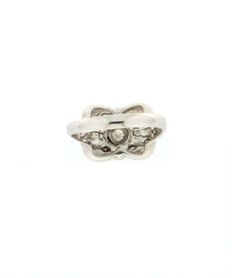 Handcraft Diamonds 18 Karat White Gold Engagement Ring For Sale 1