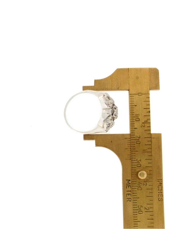 Handcraft Diamonds 18 Karat White Gold Engagement Ring For Sale 3