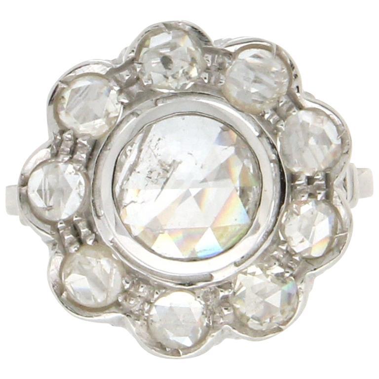 Handcraft Diamonds 18 Karat White Gold Engagement Ring