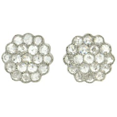 Handcraft Diamonds 18 Karat White Gold Stud Earrings