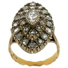 Handcraft Diamonds 18 Karat Yellow Gold Cocktail Ring