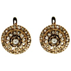 Handcraft Diamonds 9 Karat Yellow Gold Stud Earrings