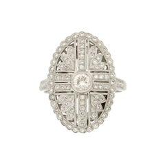 Handcraft White Gold 18 Karat Diamonds Cocktail Ring