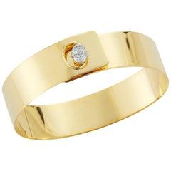 Handcrafted 14 Karat Yellow Gold High Polished Bangle Bracelet