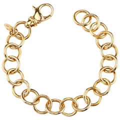 Handcrafted 18 Karat Gold Club Bracelet