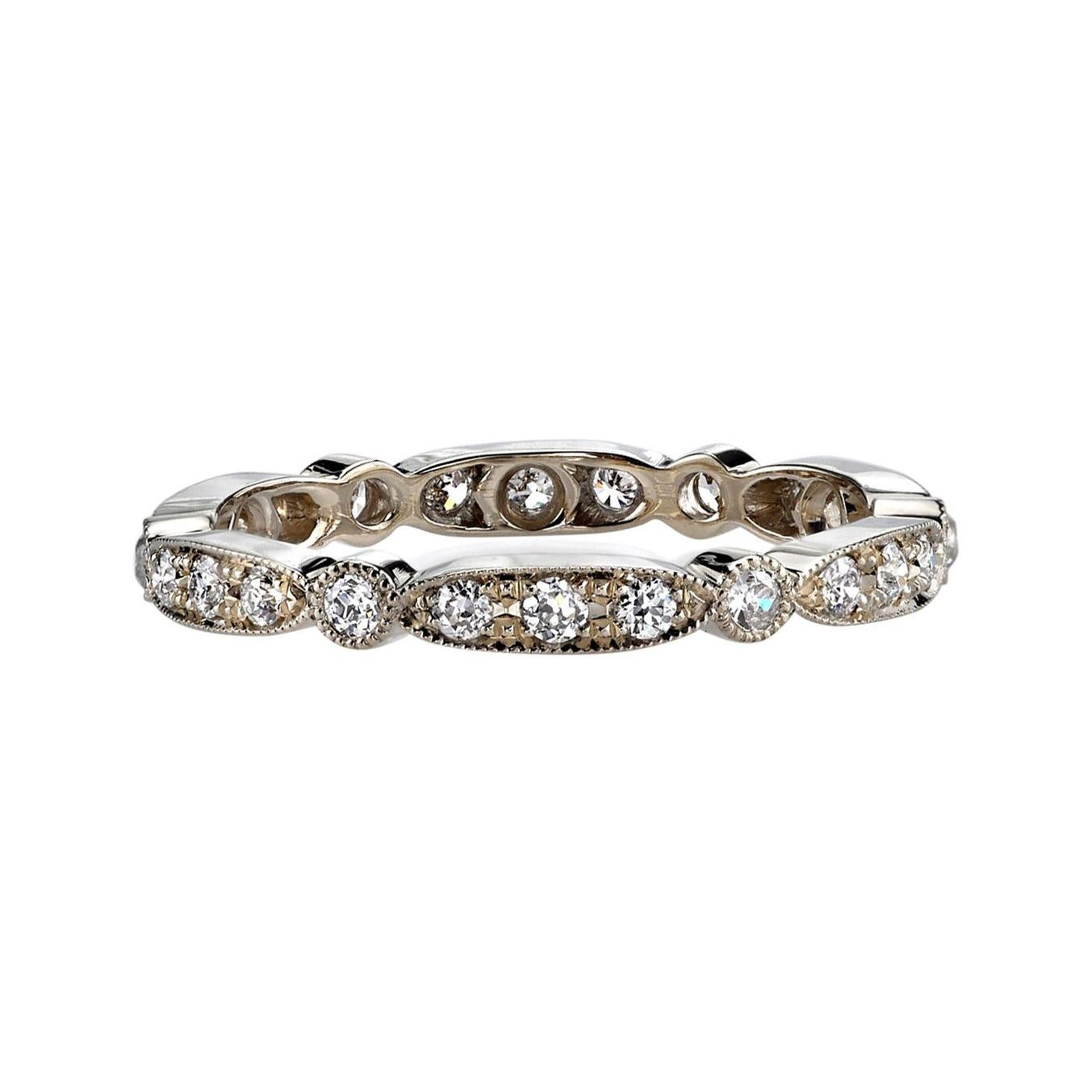 Approx. 0.50 Old European Cut Diamonds Set in a Handcrafted Gold Eternity Band