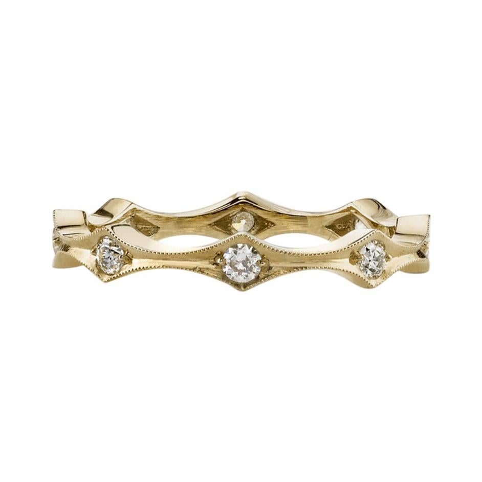 Approx. 1.25 Carat Old European Cut Diamonds Set in a Handcrafted Eternity Band.