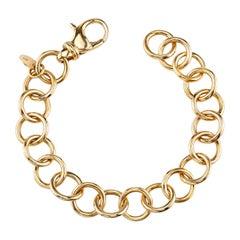 Handcrafted 18k Gold Club Bracelet