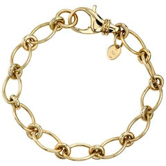Handcrafted 18 Karat Yellow Gold Crew Bracelet