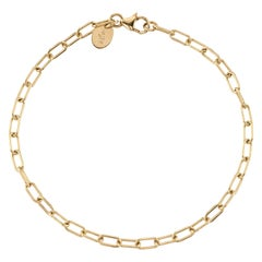 Handcrafted 18 Karat Yellow Gold Long Link Bracelet