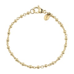 Handcrafted Rosary Bracelet in 18K Yellow Gold by Single Stone