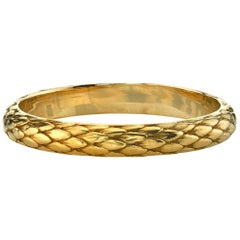 Handcrafted 18 Karat Yellow Gold Snake Band