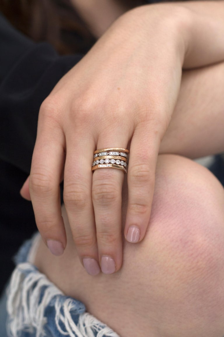 Approx. 0.30 Carat Old European Cut Diamonds Set in a Gold Eternity Band For Sale 3