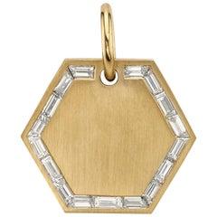 Handcrafted Josephine Baguette Cut Diamond Surround Pendant by Single Stone
