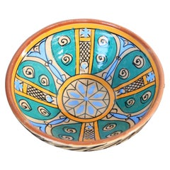 Handcrafted Antique Moroccan Couscous Bowl from Fez, 19th Century