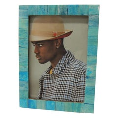 Handcrafted Aqua Picture Frame