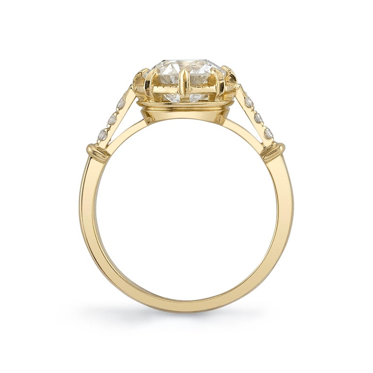 Handcrafted Arielle Old European Cut Diamond Ring by Single Stone In New Condition In Los Angeles, CA