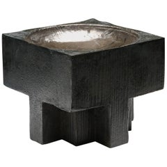 Contemporary Arno Declercq Bronze Cross Pots
