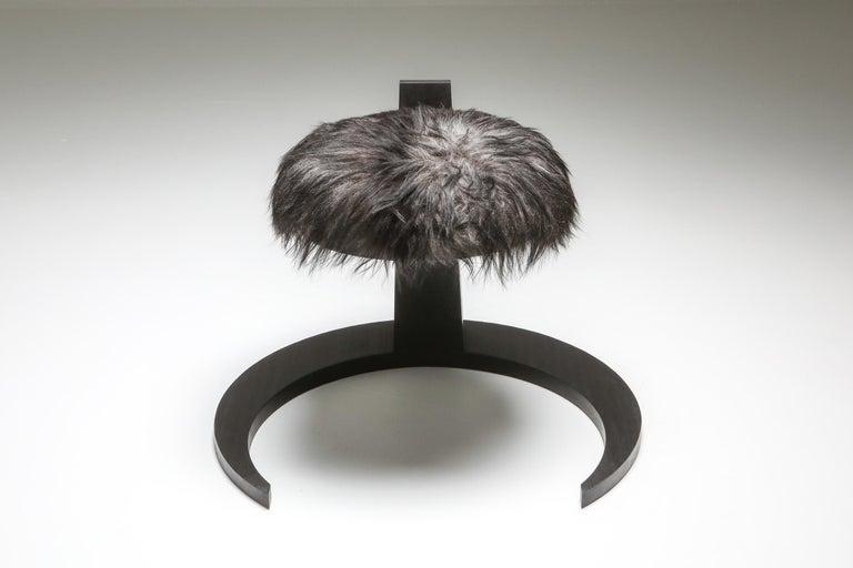 Brutalist Black Collectible design Arno Declercq Hevioso Stool For Sale