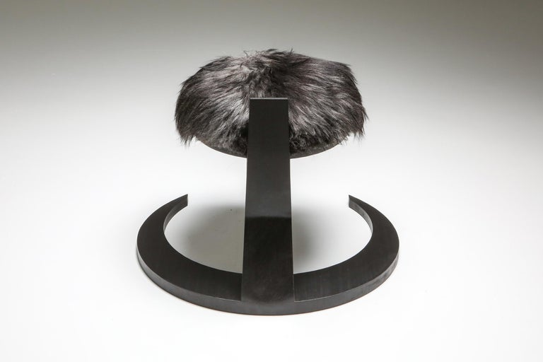 Black Collectible design Arno Declercq Hevioso Stool In New Condition For Sale In Antwerp, BE