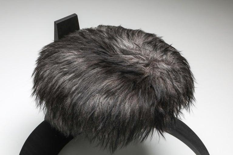 Black Collectible design Arno Declercq Hevioso Stool For Sale 1