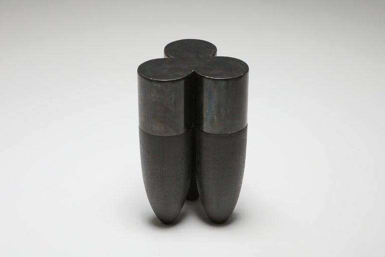 Brutalist Collectible Design Arno Declercq Senufo Side Table For Sale