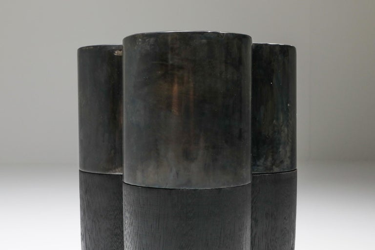 Steel Collectible Design Arno Declercq Senufo Side Table For Sale