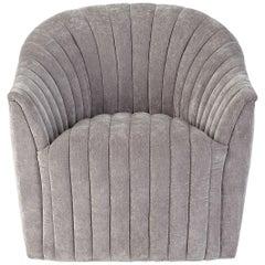 Handcrafted Art Deco Armchair in Vintage Velvet