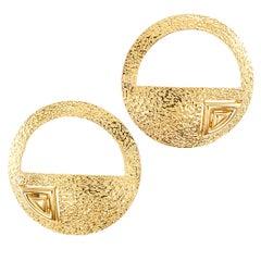 Handcrafted Art Studio Gold Earrings