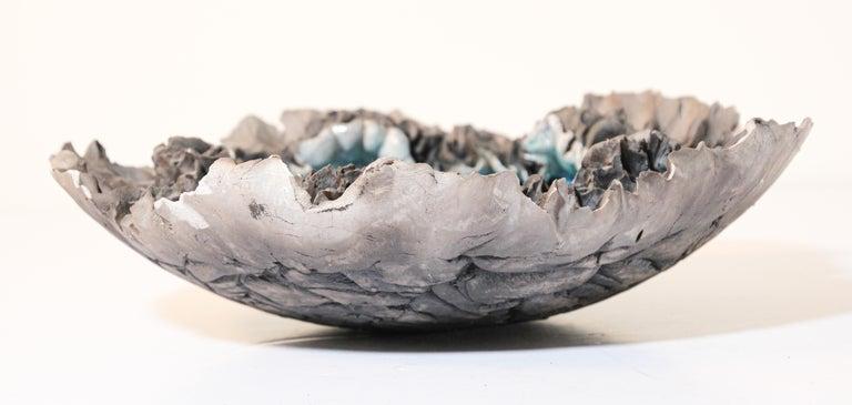 Italian Handcrafted Art Studio Pottery Freeform Bowl Ashtray For Sale