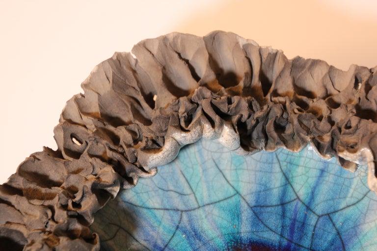 Ceramic Handcrafted Art Studio Pottery Freeform Bowl Ashtray For Sale