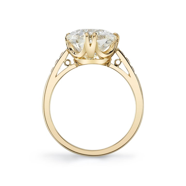 Pear Cut Handcrafted Bauer Pear Shaped Diamond Ring by Single Stone For Sale