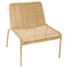 Handcrafted Braided Rattan French Design Lounger Set