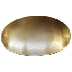 Handcrafted Brushed Brass Plate Vide Poche, Small