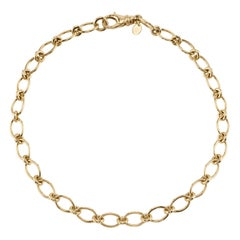 Handcrafted Club Gold Link Necklace by Single Stone