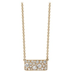 Handcrafted Cobblestone Diamond Pendant Necklace in 18 Karat Yellow Gold