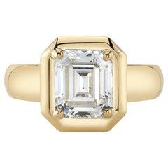 Handcrafted Cori Emerald Cut Diamond Ring by Single Stone