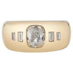 Handcrafted Dallas Cushion Cut Diamond Ring by Single Stone