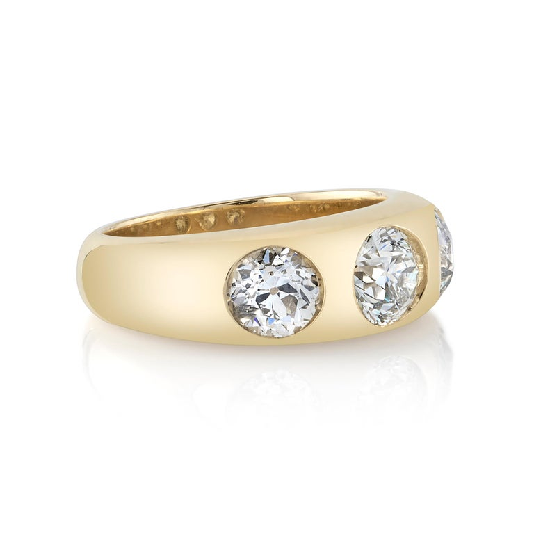Handcrafted Dallas Old European Cut Diamond Ring by Single Stone In New Condition For Sale In Los Angeles, CA