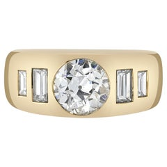 Handcrafted Dallas Old European Cut Diamond Ring by Single Stone