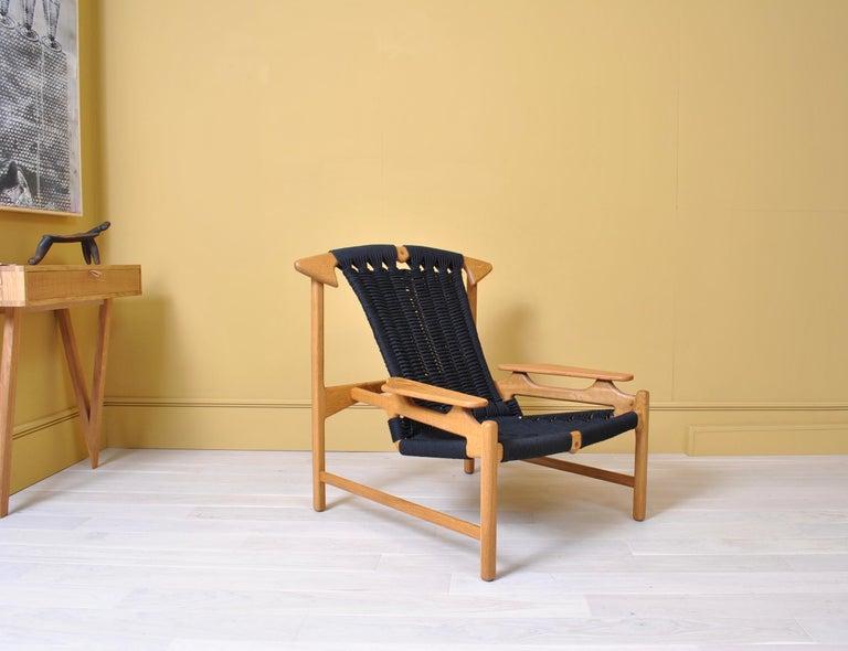 Scandinavian Modern Handcrafted Danish Oak Lounge Chair by Martin Godsk For Sale