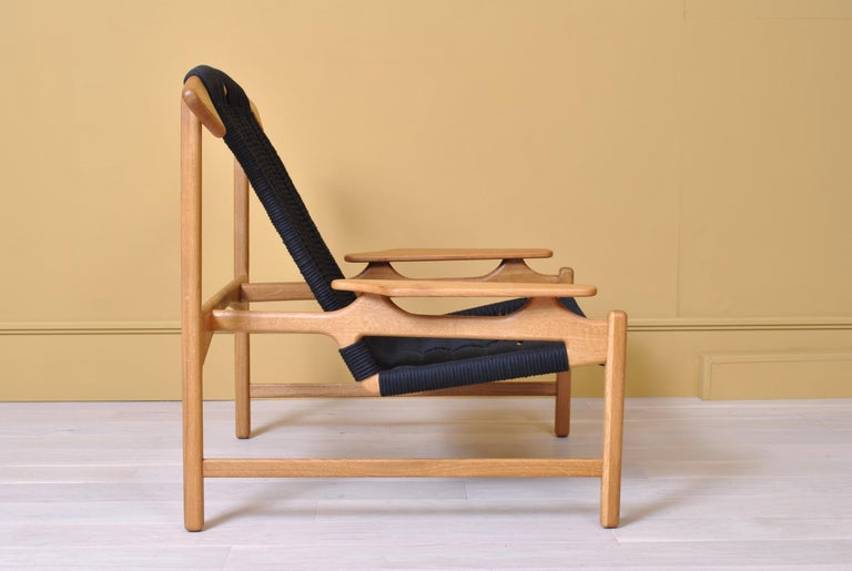 Hand-Crafted Handcrafted Danish Oak Lounge Chair by Martin Godsk For Sale