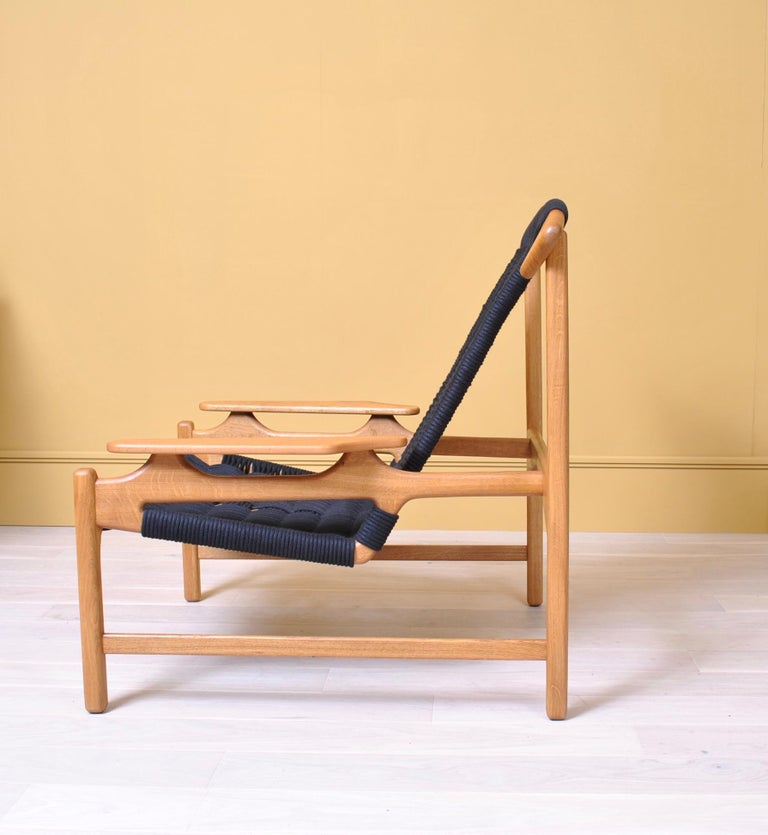 Handcrafted Danish Oak Lounge Chair by Martin Godsk For Sale 2