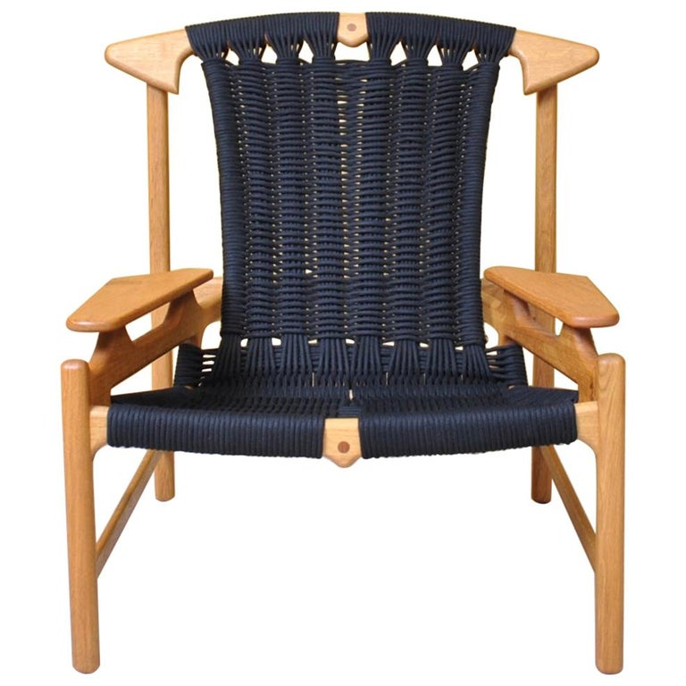 Handcrafted Danish Oak Lounge Chair by Martin Godsk For Sale