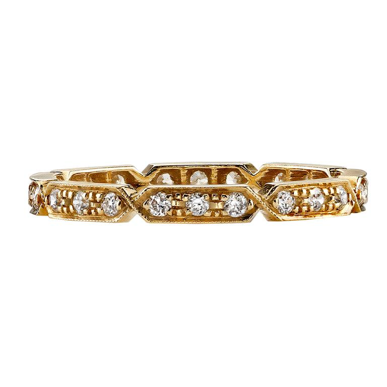 Approx. 0.30 Carat Old European Cut Diamonds Set in a Gold Eternity Band For Sale