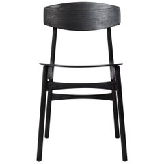 Handcrafted Ebonized Ash Modernist Dining Chairs