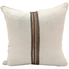 Handcrafted Embroidered Chain and Metal Sequins Pillow