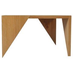 Handcrafted English Oak Modernist End Table